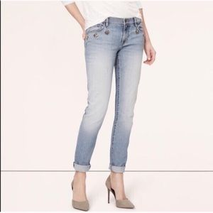 Loft Jewel Relaxed Skinny Jeans